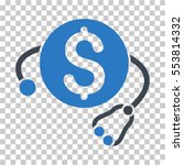 financial health icon. vector... | Shutterstock .eps vector #553814332