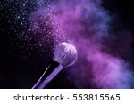 purple and glittering blusher... | Shutterstock . vector #553815565