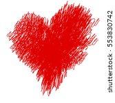 felt pen painted valentine... | Shutterstock .eps vector #553830742