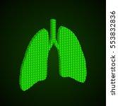 pixel art lungs logo. vector... | Shutterstock .eps vector #553832836