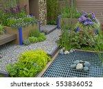 a modern environmental garden... | Shutterstock . vector #553836052