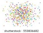 vector colorful round confetti... | Shutterstock .eps vector #553836682
