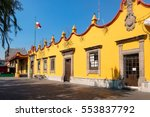 the colonial town hall palace... | Shutterstock . vector #553837792