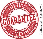vintage lifetime guarantee... | Shutterstock .eps vector #553837915