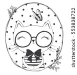 cartoon cat vector graphic | Shutterstock .eps vector #553838722