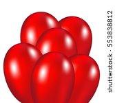 red festive balloons   Shutterstock .eps vector #553838812