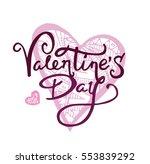 valentines day vintage... | Shutterstock .eps vector #553839292