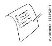 shopping list icon in outline... | Shutterstock .eps vector #553842946