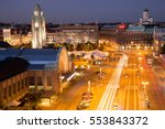 Helsinki Center Aerial View At...