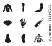 part of body set icons in black ...   Shutterstock .eps vector #553847272