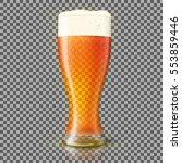 vector glass of fresh beer... | Shutterstock .eps vector #553859446