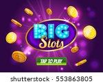 online big slots casino banner  ... | Shutterstock .eps vector #553863805