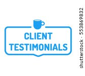 client testimonials. badge with ... | Shutterstock .eps vector #553869832