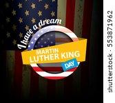 vector martin luther king jr... | Shutterstock .eps vector #553871962