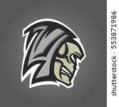 skull sport logo  mascot style  ...   Shutterstock .eps vector #553871986