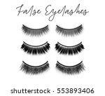 fake eyelashes set  vector... | Shutterstock .eps vector #553893406