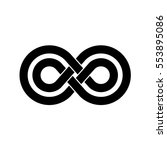 infinity symbol with two... | Shutterstock . vector #553895086