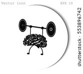 strong brain | Shutterstock .eps vector #553896742