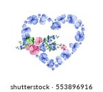 love concept. heart and flowers.... | Shutterstock . vector #553896916