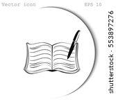 book vector icon | Shutterstock .eps vector #553897276
