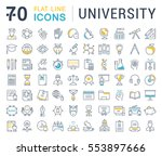 set vector line icons  sign and ... | Shutterstock .eps vector #553897666