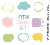 abstract comic speech bubble in ... | Shutterstock .eps vector #553901482