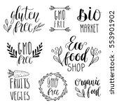 eco  nature  vegan  bio food...   Shutterstock .eps vector #553901902