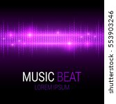 music beat. purple lights... | Shutterstock .eps vector #553903246