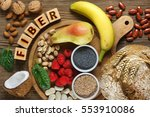 foods rich in fiber as rye... | Shutterstock . vector #553910086