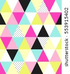 cute 80's style seamless... | Shutterstock .eps vector #553915402