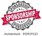 sponsorship. stamp. sticker.... | Shutterstock .eps vector #553919122
