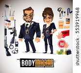 bodyguard character design with ... | Shutterstock .eps vector #553919968