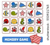 memory game for preschool... | Shutterstock .eps vector #553921765
