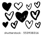 collection of hand drawn vector ... | Shutterstock .eps vector #553938316