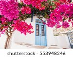 traditional greek house with... | Shutterstock . vector #553948246
