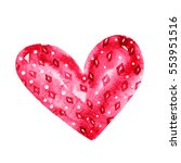 cute colorful watercolor heart... | Shutterstock . vector #553951516