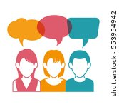 people communicating concept... | Shutterstock .eps vector #553954942