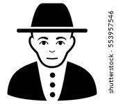 jew vector icon. flat black... | Shutterstock .eps vector #553957546
