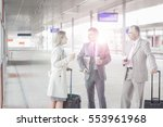 businessman discussing with... | Shutterstock . vector #553961968