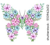 Floral Butterfly With...