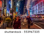new york  new york   december... | Shutterstock . vector #553967335