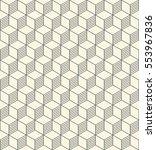 seamless cubes pattern.... | Shutterstock .eps vector #553967836