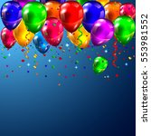 celebration party banner with... | Shutterstock .eps vector #553981552