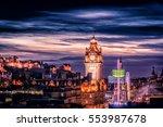 Edinburgh Scotland Skyline At...