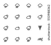outline weather icons isolated... | Shutterstock .eps vector #553988362