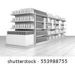 set of supermarket shelves with ...   Shutterstock . vector #553988755