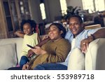 african descent family house... | Shutterstock . vector #553989718