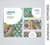 set of vector design templates. ... | Shutterstock .eps vector #553992802