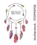 boho style frame for t shirt... | Shutterstock . vector #553996936
