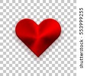 red abstract heart sign badge ... | Shutterstock .eps vector #553999255